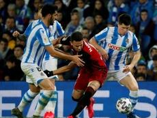 Primera tienta a la sensación de la Copa. EFE/Juan Herrero