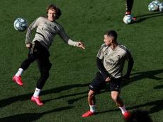Zidane a dirigé une nouvelle session ce mardi. EFE
