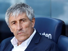 Setien unimpressed with officiating in Barca's win over Getafe. EFE