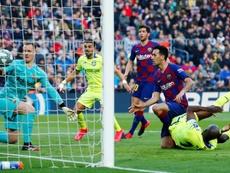 Le record de Getafe au Camp Nou. EFE