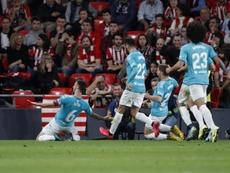 Osasuna se llevó un triunfo monumental de San Mamés. EFE/Luis Tejido