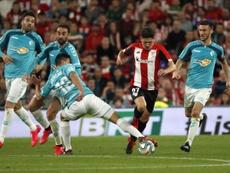 El Osasuna-Athletic pasará a disputarse a las 18.30 horas este sábado. EFE/Luis Tejido