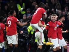 Manchester United vence fora de casa. EFE/EPA/FACUNDO ARRIZABALAGA