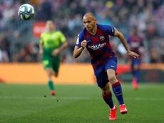 Martin Braithwaite fez a sua estreia com a camisa do Barcelona. EFE
