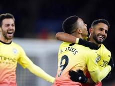 El City ganó por la mínima en casa del Leicester. EFE/EPA