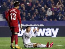 Hazard volvió a lesionarse ante el Levante. EFE