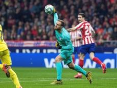 Oblak sufre un cuadro gripal y no será de la partida ante el Espanyol. EFE