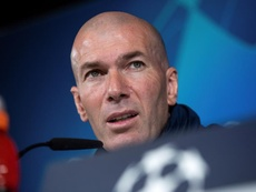 Zidane habló sobre la eliminatoria. EFE