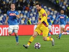 Messi some na casa de Maradona e quem salva é Griezmann. AFP