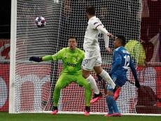 Tousart dio el triunfo al Lyon. EFE/EPA