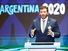 Presidente da Conmebol, Alejandro Domínguez. EFE/Luis Eduardo Noriega A./Arquivo