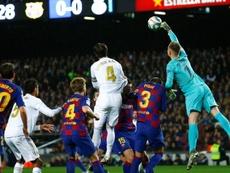 Ter Stegen voltou a dizer que não deixará o Barcelona. EFE/ Enric Fontcuberta