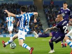 Sandro, satisfecho con la imagen del Valladolid. EFE