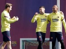 Barcelona volta a treinar em grupo nesta semana. EFE/ Andreu Dalmau/Arquivo