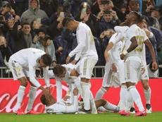Mariano jugó poco, pero hizo un gol importante en el 'Clásico'. EFE