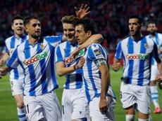 Oyarzabal analizó la actualidad de la Real. EFE/Santi Otero