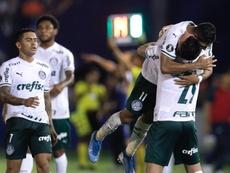 Time titular do Palmeiras na estreia na Libertadores 2020 contra o Tigre. EFE
