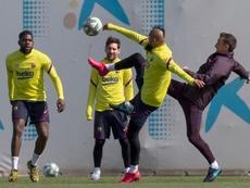 Le Barça s'entraîne encore. EFE