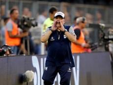 Maradona, contra los dirigentes. EFE