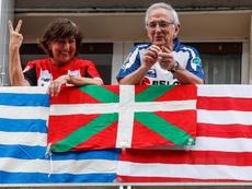 El Athletic-Real Sociedad podría ser el primer partido con público. EFE