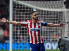 Koke monte sur le podium des joueurs les plus capés avec l'Atlético. EFE