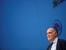Tebas volvió a criticar la Superliga. EFE