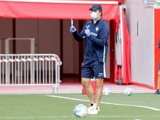 Lopetegui pidió prudencia en la previa del partido ante el Mallorca. EFE