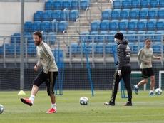 Real Madrid voltou às atividades após o domingo de folga. EFE/LaLiga
