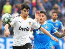 Carlos Soler podría perderse el próximo partido. EFE/Archivo