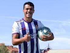 Pedro Porro pertence ao Manchester City e teve poucas chances no Real Valladolid. EFE/NACHO GALLEGO