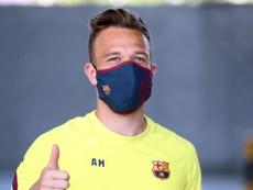 Arthur se reunirá este lunes con Setién y Abidal. EFE/FC BARCELONA/Migul Ruiz
