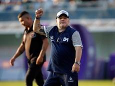 Antonio Torres cerró a Maradona para el banquillo de España. EFE