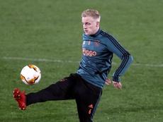 Donny van de Beek apenas está contando con minutos en el United. EFE