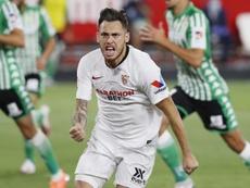 Ocampos, explotando en el Sevilla. EFE