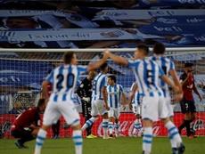 La Real y Osasuna empataron 1-1. EFE