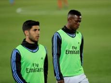 Asensio impressiona Zidane durante treinamento. EFE/JuanJo Martín