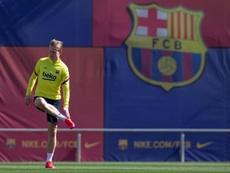 De Jong criticou o trabalho do Barcelona. EFE/ Enric Fontcuberta