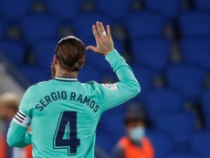 O sentido adeus de Sergio Ramos. EFE/Juan Herrero