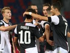 Dybala marcou um dos gols da Juventus nessa sexta-feira. EFE/EPA/GIORGIO BENVENUTI