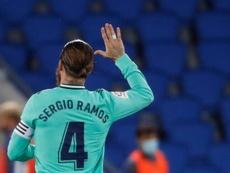 Sergio Ramos analizó y despidó el curso en Twitter. EFE