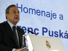 Florentino said Kylian Mbappe will not be signed this summer. EFE/Archivo