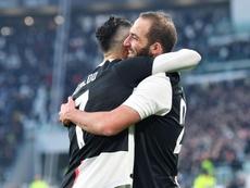 Higuaín entrou no segundo tempo e marcou um dos quatro gols da Juventus. EFE/EPA/ALESSANDRO DI MARCO