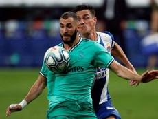 Karim Benzema was the decisive factor in Real Madrid's 0-1 win at Espanyol. EFE