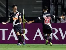 Germán Cano, o maior artilheiro do Vasco desde 2016. EFE/Marcelo Sayao