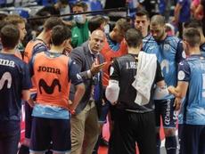 Un integrante del Movistar Inter dio positivo por COVID-19. EFE/Carlos Díaz