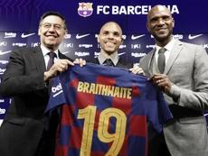 O Barça negocia Braithwaite com a Premier League. EFE