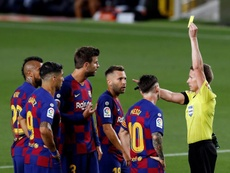 Seven Barca players are one yellow away from a ban. EFE