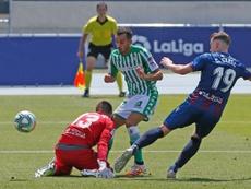 Juanmi marcó el gol del 3-1. EFE
