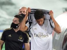 Varane incertain pour le match contre l'Athletic Bilbao. efe