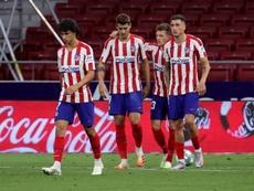Simeone, con las dudas de Joao Félix, Felipe y Mario Hermoso para Vigo. EFE/Juanjo Martín